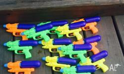Lots of water pistols as pictured 6 brand new and 16