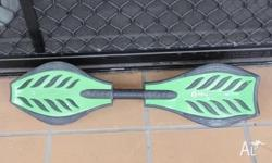 Green Skulls Checkers RIPSTICK style WaveBoard, Caster