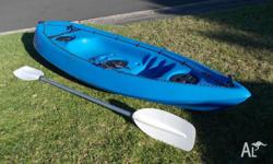 Little used kayak in very good condition. Stored