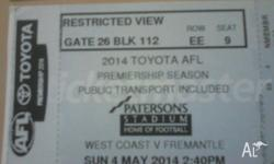 I HAVE TWO SETS OF TICKETS! *Restricted views Three