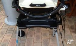 WEBER BABY Q BBQ WITH STAND, COVER, BREAKFAST PLATE,