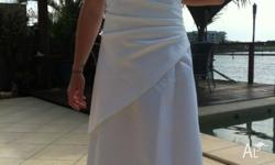 White size 12 wedding dress excellent condition.