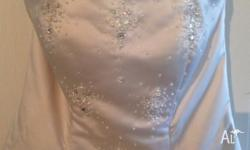 Wedding dress size 14, Champagne in colour, a few marks
