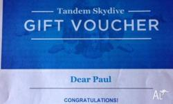 Selling a Gift Voucher for a weekend tandem skydive