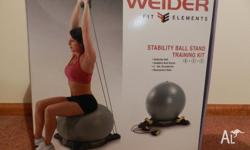 Weider fitball the small handweights pictured on box