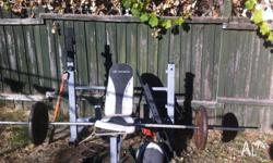 Weight lifting station. Needs tlc but perfect for