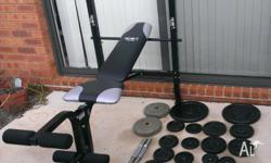 Hi Weight set for sale All in good condition Bench
