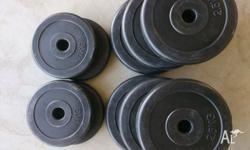 20kg available Small weights, suitable for barbells or