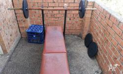 am selling my weight and bench comes along with