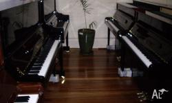Sensational new Wertheim studio upright piano with rich