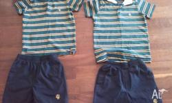 As shown in the photo size 8 18-24 months old. Good