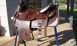 Top quality western pleasure saddle custom made by Rod