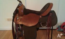 "16"" ladies flex trail saddle. Leather and nylon. Full"
