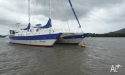 This well maintained Wharram 12m catamaran is ready to