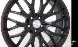 18 inch MB Sport satin black finish with red racing