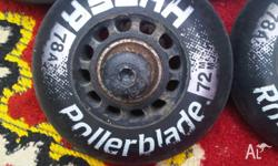 Hi, I think these wheels are for rollerblades (black)