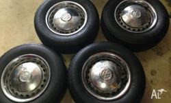 4x Kombi Wheels for sale - Comes with Genuine WV Hub