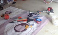 Whipper snipper with three extra attachments 1)chainsaw
