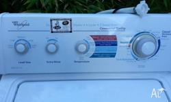 Whirlpool washing machine, 7.5kg Commercial quality,