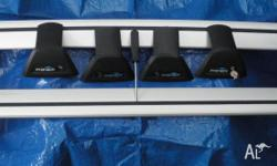 Whispbar Prorack roof rack (bars) and fittings. Gutter