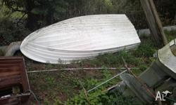 white 10ft dinghy, needs work. if you would like to