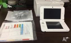 Barely been used white 3DS XL, been maintained well as