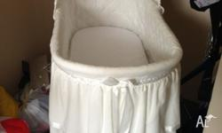 White baby bassinet like new only used for two months -