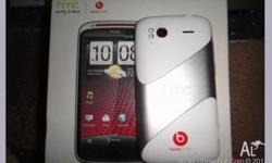 White HTC Sensation XE in great condition. This phone