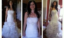 White Lace up Wedding Gown Size 8-10. brand new, only