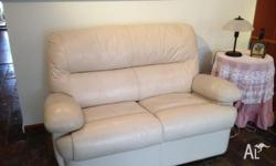 White leather 2 seater lounge Brand new condition Must