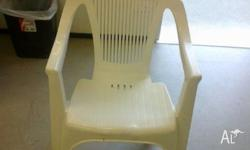 white plastic outdoor chairs 25 available - buy one or
