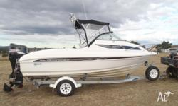 2007 model Whittley Clearwater 1900 fibreglass boat