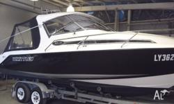 2008 Whittley Sea Legend SL26 Hard Top. Twin Suzuki