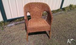Brown wicker chair in very good condition
