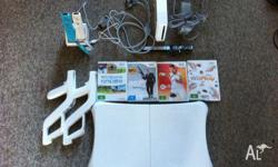wii console + more, come with all you can see from