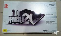 WII Dj Hero 2 Deck Awesome game Turntable bundle/