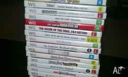 Wii in good working order with 29 games, 2 controllers