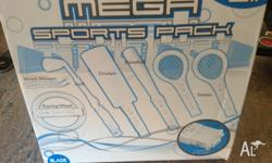Mega sports pack to suit WII console. Includes racing