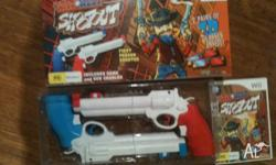 Brand new Wild West Shootout game and 2 X Guns for Wii