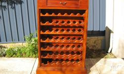 Attractive Wine Rack with Top Drawer. 7 Shelves x 7