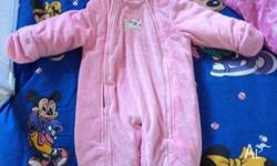 """Carters"" Pink size 12 months winter suit. Very thick"
