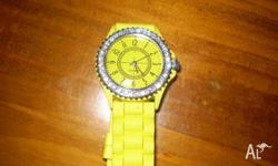 Gorgeous yellow fashion watch perfect for the spring