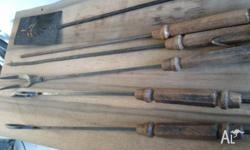 Set of wooden barbeque tools. Make an offer. Local pick