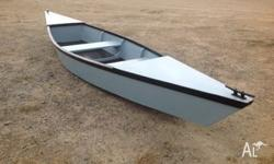 This marine ply canoe is strongly constructed. Finished