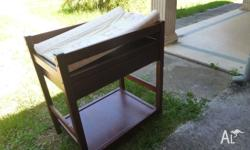 Solid wooden change table with large drawer under