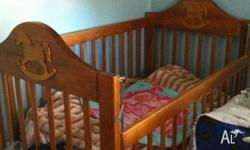 Wooden Cot with matress