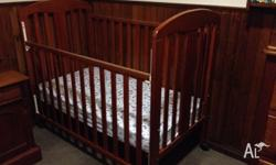 This cot with extra's is at nanny's house, it is in