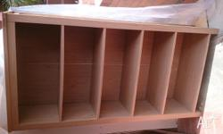 Laminated wood book case. Heavy duty furniture. Great