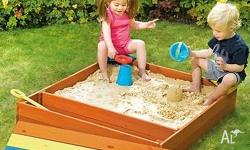 Hide and Seek Cubbies Joey Sandpit with Storage. Your