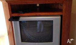 - Real wood (TV cabinet) - TV cabinet is in excellent